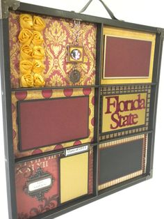 Photo Tray - I LOVE this. Classy, but still all about the Noles!