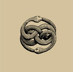 "Dessin Ouroboros tatouage - The AURYN sign, as imagined by Michael Ende in his book ""The Neverending Story"" Oroboros Tattoo, Story Tattoo, Auryn, The Neverending Story, Arte Obscura, Illustration Art, Illustrations, Occult Art, Snake Tattoo"