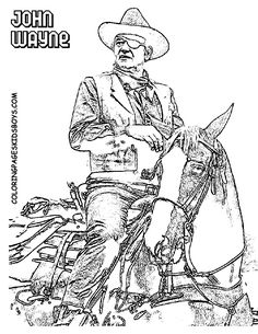John Wayne Coloring Pages Google Search Completed Art
