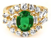 #jeanharlow #hollywoodjewelry The Hollywood Collection's version of Jean Harlow's Sexy Emerald Ring