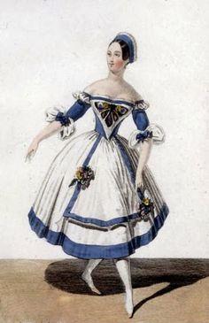 bumble button: Romantic Era Victorian Ballerina Marie Tagolini - Butterfly Fairy