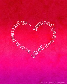 """free 8x10"""" All You Need is Love Printable for Valentine's Day"""