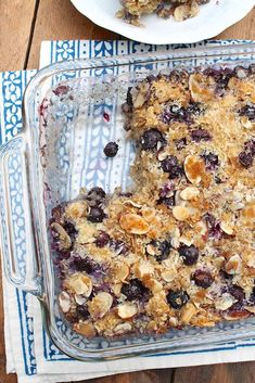 Blueberry Coconut Almond Baked Oatmeal – The Fountain Avenue Kitchen For added ease, prepare this filling casserole the night before and gently reheat in the morning. Serve as is or with a dollop of yogurt or drizzle of milk. Healthy Recipes, Healthy Baking, Gourmet Recipes, Cooking Recipes, Healthy Breakfasts, Vegan Baking, Breakfast Bake, Breakfast Dishes, Breakfast Recipes
