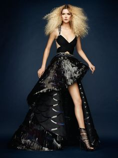 haute couture, I could aim for worst dressed and then use this for Halloween to go as Ke$ha...LOL