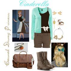 Casual Disney Princess - Cinderella, created by jessica-felixrod on Polyvore