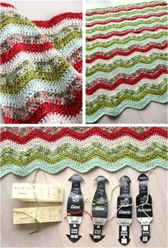 Ripple crochet blanket.                           It's beautiful blankit, and beautiful color combination.
