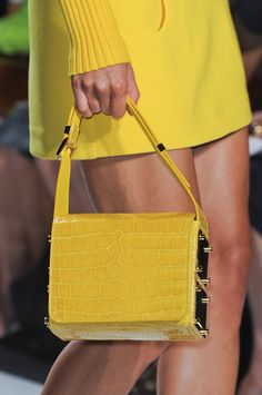 Michael Kors Spring 2013 #yellow #style #handbag