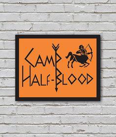 Placa Acampamento Meio Sangue