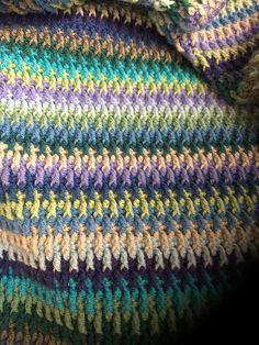 Ionian Ripple Blanket By Pat Foster - Free Crochet Pattern - (ravelry)