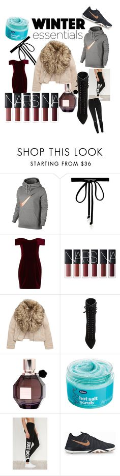 """My Current Winter Essentials"" by styledby-l ❤ liked on Polyvore featuring NIKE, Joomi Lim, Nicholas, adidas, Viktor & Rolf, Bliss and River Island"