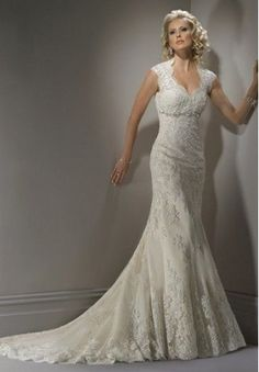 LACE SWEETHEART A-LINE ELEGANT WEDDING DRESS