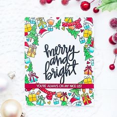 Hi, crafty friends! Today I'm up on the My Favorite Things Challenge blog with my last card as their October guest designer. This time I created a Christmas card with full of fun images from two fabulous stamp sets fromMy Favorite Things: Beast Friends and Merry Everything. How to Make a Handmade Christmas Card using …