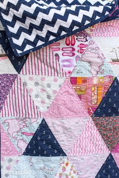 Triangle Quilt tutorial. Quilting tutorial.