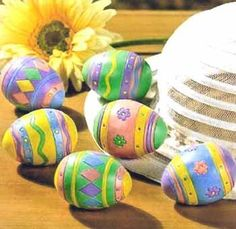 Decorated Painted Easter Basket Eggs Set of 6 by OTC, http://www.amazon.com/dp/B004P3ZQZW/ref=cm_sw_r_pi_dp_eWE6qb0R5NZSZ