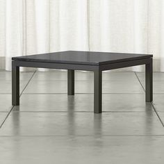 Shop Parsons Square Coffee Table with Black Marble Top.   More than meets the eye, the Crate and Barrel Parsons coffee table is constructed of hot-rolled steel with handcrafted details.