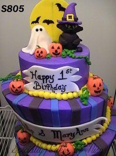 Halloween birthday cake Morgans Cakes Fondant Halloween Cake