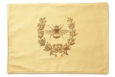 S/4 Bee Place Mats on OneKingsLane.com Idea to make for gift, use similar fabric