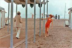 Dirk Bogarde on left,  and Björn Johan Andrésen,right, as 14yo Tadzio - Death In Venice [1971]