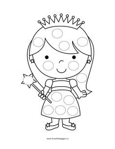 do a dot free printable coloring pages - Princess Tea Party Coloring Pages