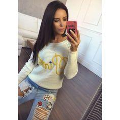 Elegantní dámský pletený pulovr krémové barvy - manozo.cz Turtle Neck, Sweaters, Fashion, Moda, Fashion Styles, Sweater, Fashion Illustrations, Sweatshirts, Pullover Sweaters