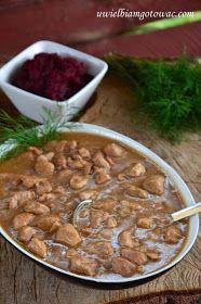 Gulasz wieprzowy w sosie pieczeniowym Goulash, Taste Of Home, Chana Masala, Slow Cooker, Beans, Keto, Dishes, Vegetables, Ethnic Recipes