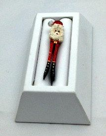 Christmas Handmade Vintage Santa Pin  Gift Idea  by Pastfinds