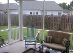 I need a few thousand dollars so I can do this to our back yard please! -screened in patio with fenced yard