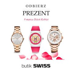 Przyjdź do butiku SWISS w Porcie Łódź , kup zegarek i odbierz prezent w postaci bransoletki z okazji Dnia Kobiet. Oferta ważna do 8 marca. Zapraszamy!