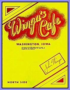 Winga's Café, North Side, Washington IA, OPS Prices