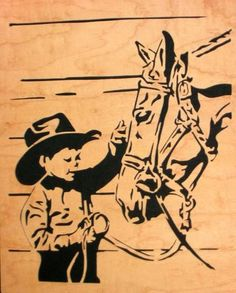 Pattern by Gayle of the Scroller's Cafe. - See this image on Photobucket. Wood Burning Stencils, Wood Burning Crafts, Wood Burning Patterns, Wood Burning Art, Wood Painting Art, Stencil Painting, Horse Stencil, Star Stencil, Horse Silhouette