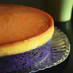 7 Ube Desserts That Will Brighten Your Diet - January Harris - Filipino desserts Leche Flan Cake Recipe, Ube Cheesecake Recipe, Cheesecake Tarts, Flan Recipe, Ube Cupcake Recipe, Ube Recipes, Kosher Recipes, Tart Recipes, Dessert Recipes