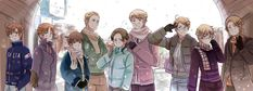 Hetalia <<<<But look at how short Japan is compared to the others I can't take it <<< but also look at how Romano and Japan are staring at each other