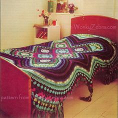 I don't know if there is anything that can stop me from this being my next project... Vintage Crochet Pattern 257 PDF Afghan Bedspread from WonkyZebra. $3.00, via Etsy.