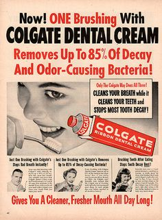 1953 Colgate Toothpaste Original Health and Beauty Print Ad