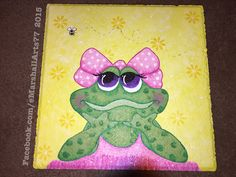 Lilly Mae frog stepping stone