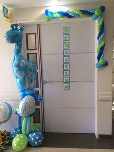 Nacimiento de Sebastián!!! Baby Shower Ballons, Baby Balloon, Baby Shower Parties, Baby Showers, Balloon Columns, Balloon Animals, Balloon Bouquet, Baby Decor, Balloon Decorations