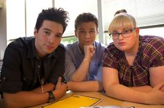 Filming Struck By Lightning: Rob Aguirre, Chris Colfer and Rebel Wilson