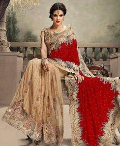 Items similar to Ethnic Indian Bridal Heavy Work Velvet & Net Saree Pakistani Party Wear Wedding Sari on Etsy Pakistani Party Wear, Indian Party Wear, Party Wear Sarees, Pakistani Bridal, Bridal Lehenga, Indian Designer Sarees, Designer Sarees Online, Indian Sarees, Indische Sarees