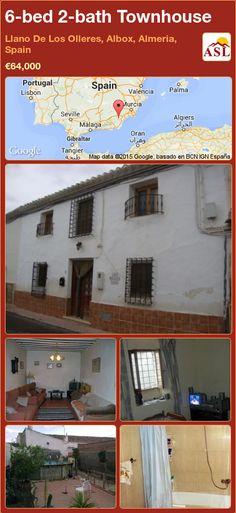 Townhouse for Sale in Llano De Los Olleres, Albox, Almeria, Spain with 6 bedrooms, 2 bathrooms - A Spanish Life Murcia, Valencia, Portugal, Medical Center, Townhouse, Spanish, Patio, Bathroom, Nice
