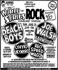 World Series of Rock! The World Series of Rock was a recurring, day-long… Cleveland Ohio, Cleveland Rocks, Cleveland Concerts, Willoughby Ohio, 70s Rock And Roll, Tour Posters, Music Posters, Rock Radio, Vintage Concert Posters