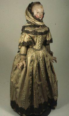 Doll, 1825-1875, wood, France.