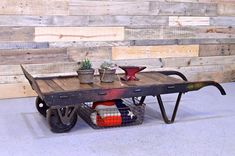 Reclaimed Wood Dolly Coffee Table Industrial Home Decor Project Idea | Project Difficulty: Medium | Maritime Vintage.com