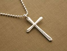 mens long cross necklace $45