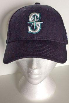 low priced 53d67 52ce7 NEW ERA SEATTLE MARINERS MLB Baseball Cap Hat ADJUSTABLE Navy Blue  NewEra   BaseballCap Mlb