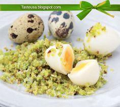 quail eggs with celery salt