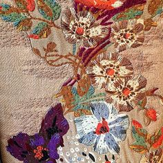 Regram from @malinajoseph: Detail shot of beautiful embroideries @valentino #resort16 collection