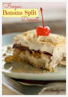 This Frozen Banana Split Dessert is the perfect recipe if you are feeding a crowd. It is inexpensive when you consider one recipe makes up to 24 servings.