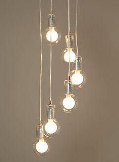 BHS // Illuminate // Felix 6 Light Cluster // Chrome and exposed bulbs ceiling cluster light