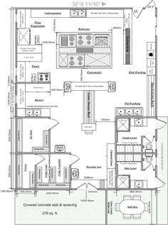 Restaurant Kitchen Floor Plan Layout Commercial kitchen design for common use and function home Restaurant Layout, Restaurant Design, Restaurant Floor Plan, Restaurant Ideas, Modern Restaurant, Kitchen Layout Plans, Best Kitchen Layout, Kitchen Floor Plans, Kitchen Flooring