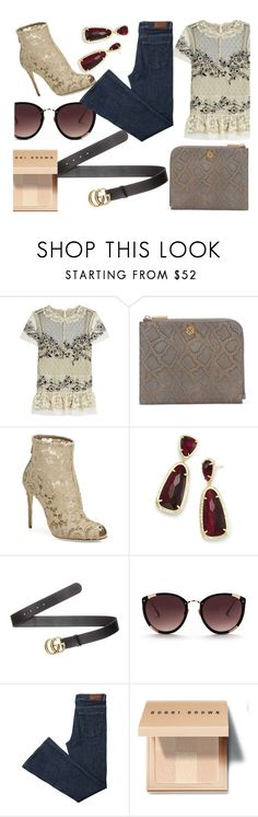 """""""28.12.17"""" by valeriapc ❤ liked on Polyvore featuring RED Valentino, Dagne Dover, Dolce&Gabbana, Kendra Scott, Gucci, Rebecca Taylor and Bobbi Brown Cosmetics"""
